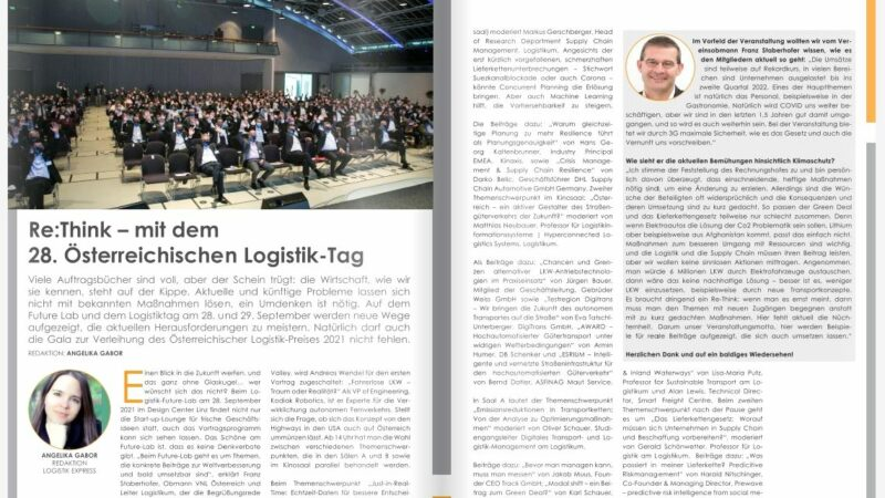 Re:Think – mit dem 28. Österreichischen Logistik-Tag