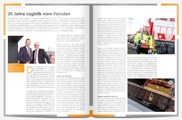 """CargoServ und LogServ: """"20 Jahre Logistik vom Feinsten"""""""